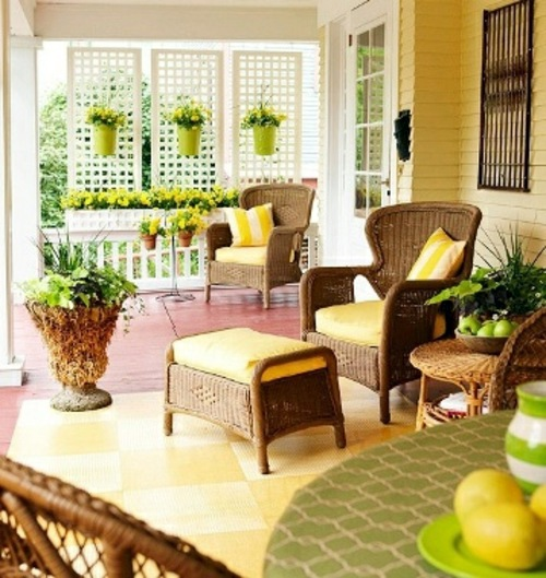 Beautiful Colorful Porch Ideas Cozy Sitting Area