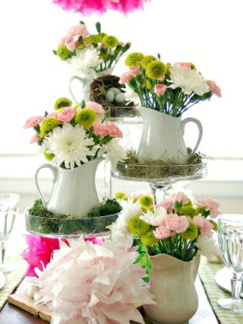 Easter Decoration With Spring Flowers Interior Design