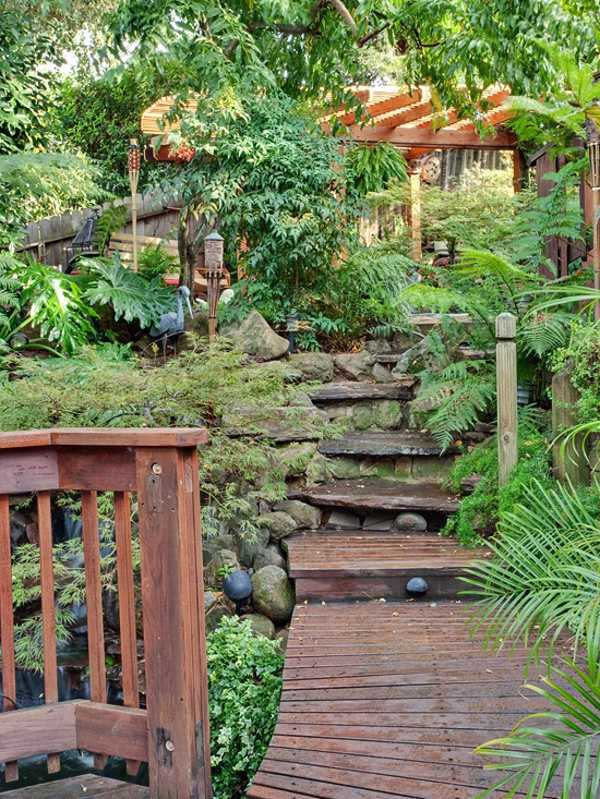 Landscaping - 15 ideas for tropical retreat in your garden ... on Tropical Patio Ideas id=14653