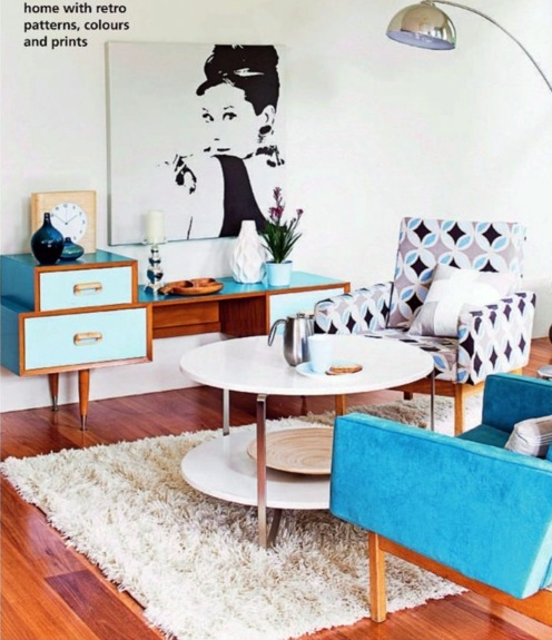 30 Inspirational Living Room Ideas: Living Room Design Ideas In Retro Style