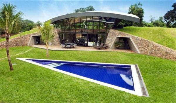 Modern Underground Hillside Houses In Luque Paraguay