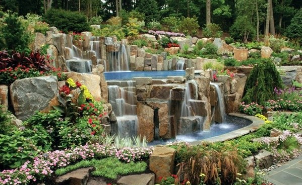 Swimming Pool In The Garden Landscape Ideas For