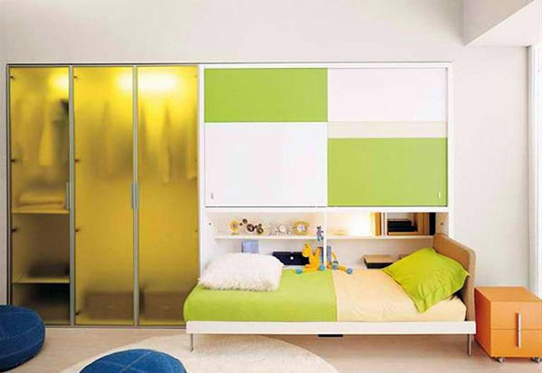 Wall cabinet with folding bed living ideas for practical for Klappbett jugendzimmer