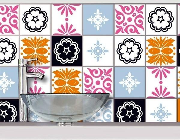Bathroom Tile Over Glue Tile Stickers For Old Dull Tiles