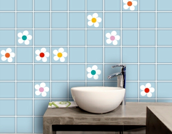 Bathroom Tile Over Glue Stickers