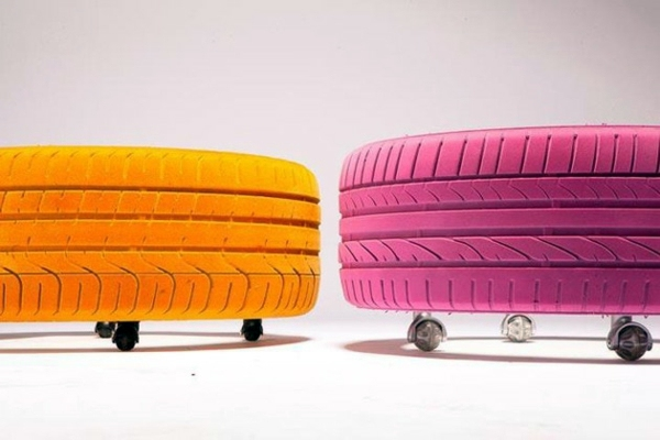 Möbel - Designer coffee table by Tavomatico - how to make a stylish piece of furniture from old tires?