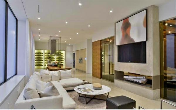 Wohnzimmer einrichten - TV room wall in modern living room - 15 Inspiring Examples