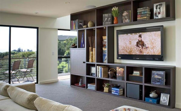 TV room wall in modern living room - 15 Inspiring Examples