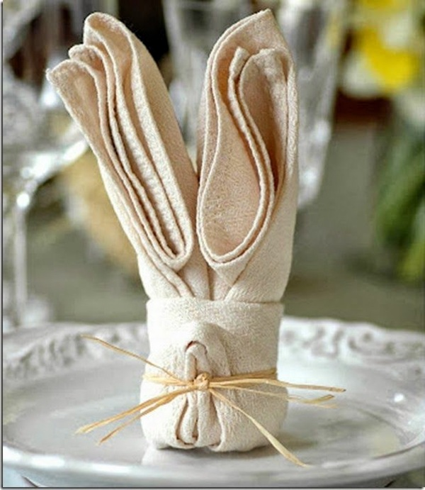 Napkin Folding - manual in pictures