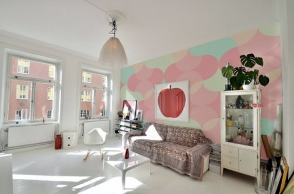Pastel tones as wall colors soften the ambience at home