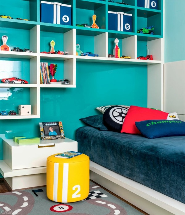 Kinderzimmer gestalten - Nursery for boys - colored furnishing ideas