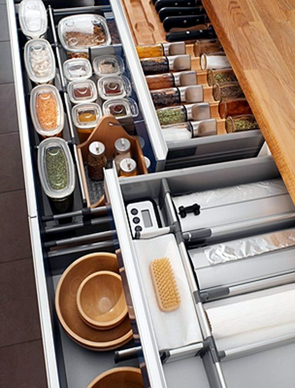 kitchen drawer dividers - organize your kitchen equipment