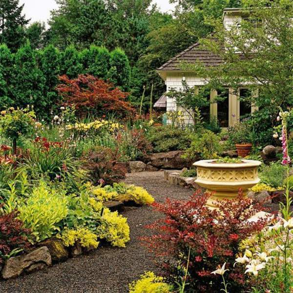 Landscaping with gravel and stones - 25 garden ideas for ... on Patio And Gravel Garden Ideas id=55209