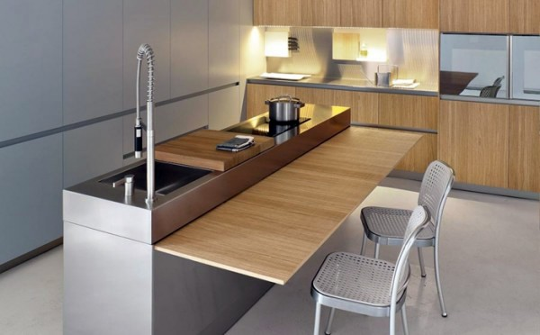Folding Table As A Dining Setting Up Small Kitchen Modern Solutions