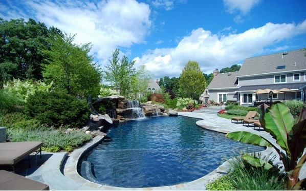Swimming Pool In The Garden Landscape Ideas For Swimming Pools Interior Design Ideas Avso Org