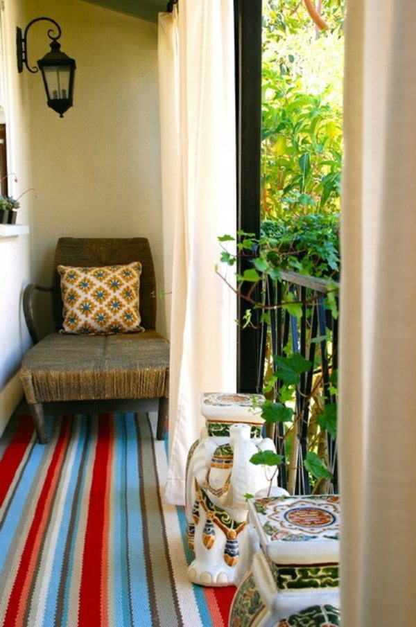 Teppich & Boden - A colored carpet will refresh your terrace balcony beautiful