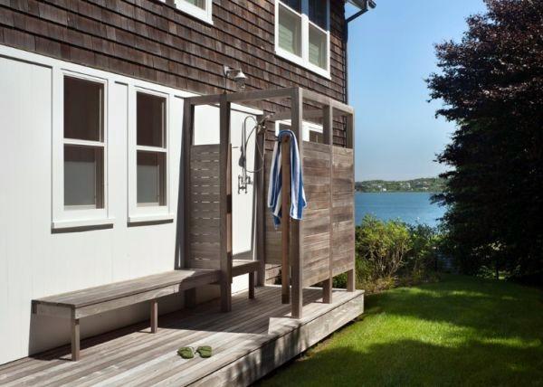 Build shower itself - cool DIY Garden Shower from Euro pallets