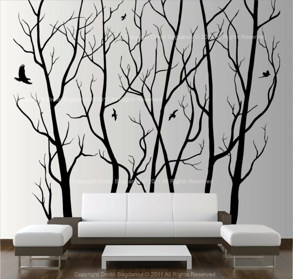 Attractive wall decoration with original artistic elements