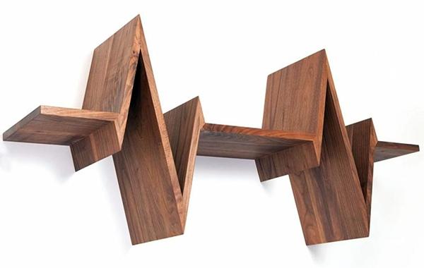 Art deco möbel - Wall shelf design adds life to your modern home