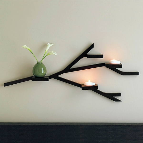 Wall shelf design adds life to your modern home