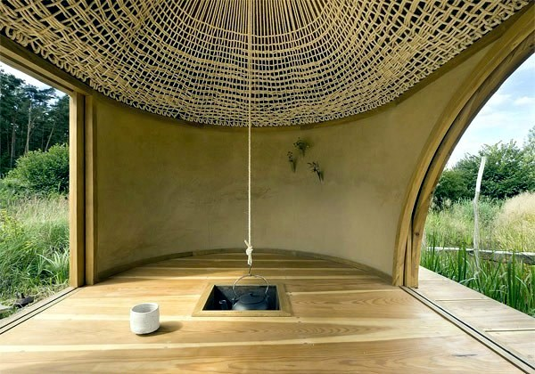 Simple Tea House Design In The Japanese Style With Exotic