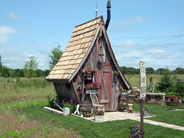Garden Houses Made Of Wood Nice And