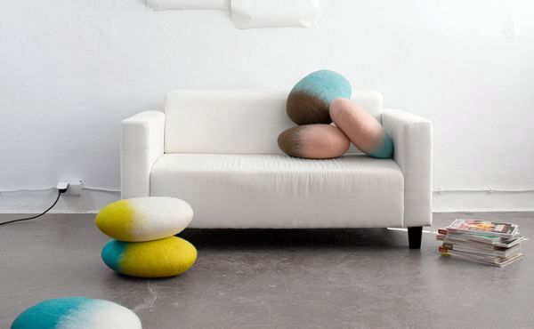 Dekoration - Coffee tables and stylish decoration in natural look - Felted Wool Stones