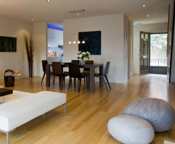 Coffee tables and stylish decoration in natural look - Felted Wool Stones