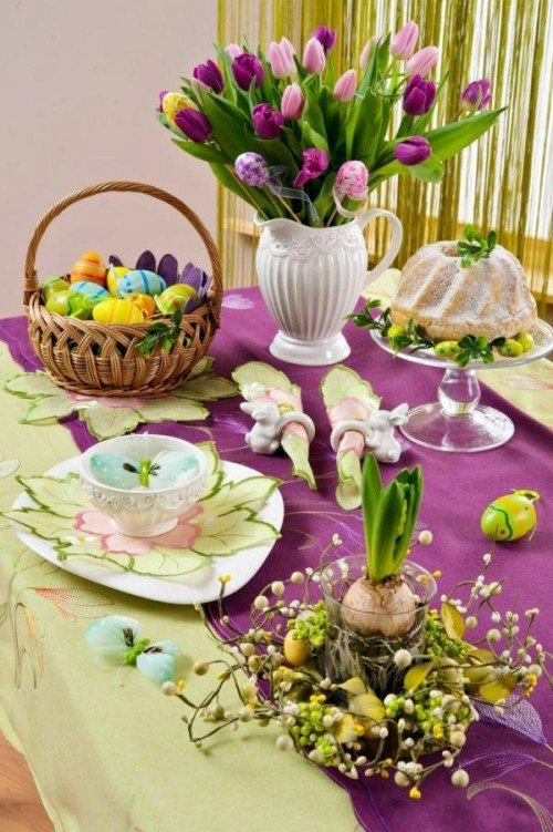 Atmospheric create table decoration for Easter