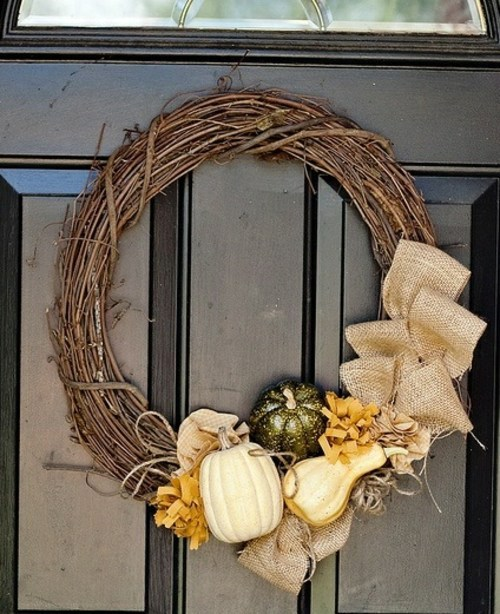 Dekoration - 35 Decorating ideas for a homemade autumn door wreath