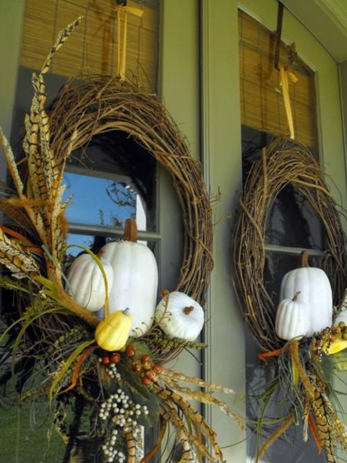 35 Decorating ideas for a homemade autumn door wreath