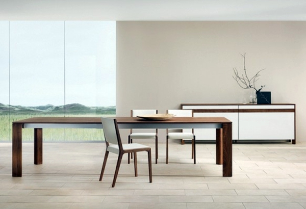 Modern furnishings in the dining room