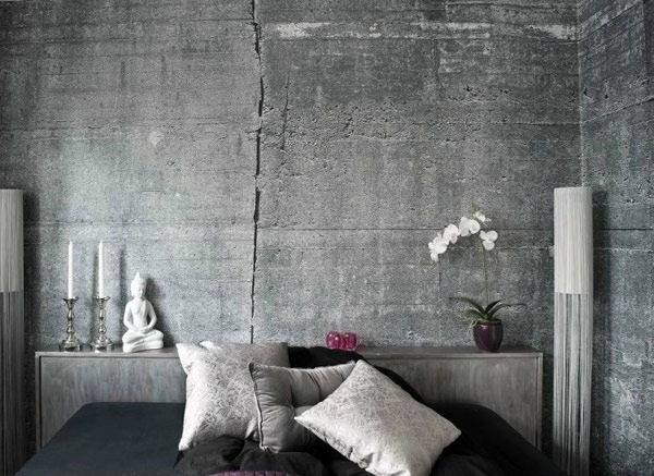Wall color with concrete look - walls made of concrete