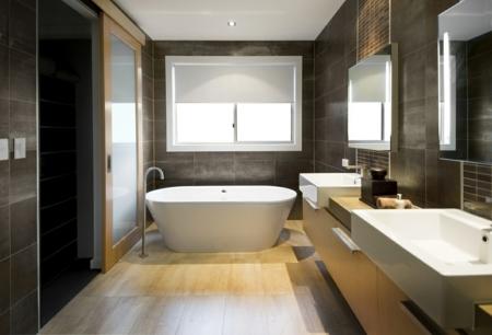 Bodenfliesen - Combination of floor tiles and hardwood flooring - seamless transition between rooms
