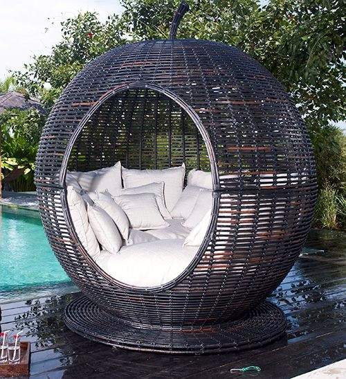"Außenmöbel - Great bassinet outdoors - Iglu ""Apple"" by Skyline"