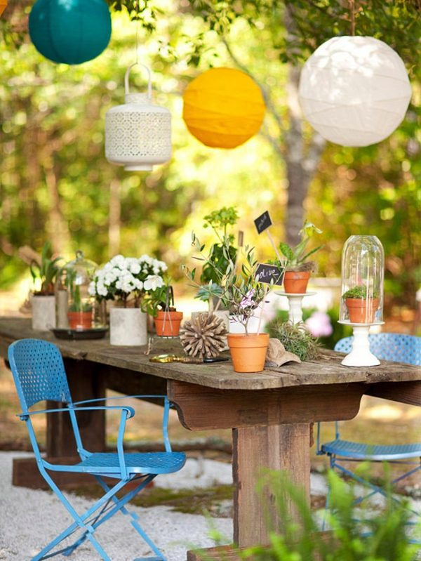 Gartengestaltung - 23 colorful outdoor decoration ideas in your garden