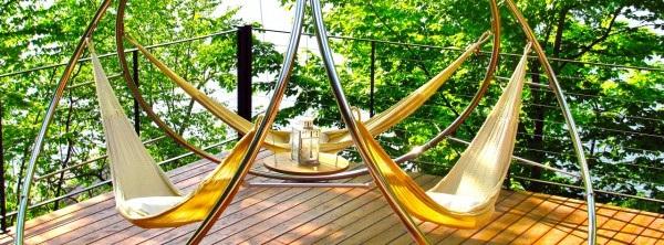 Garden hanging chairs and hammocks by Trinity Hammocks