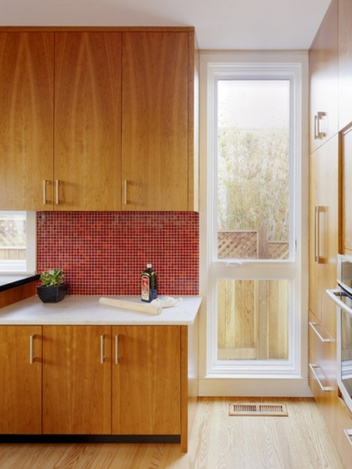 Küche - 15 gorgeous kitchen ideas for red kitchen back wall