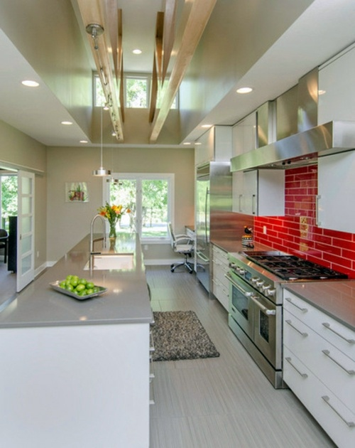 15 gorgeous kitchen ideas for red kitchen back wall