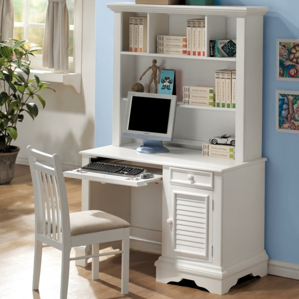 Save Space How To Combine Shelves And, Desk And Shelves