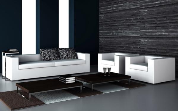 Einrichtungsideen - The black wallpaper creates an artistic living environment in your home