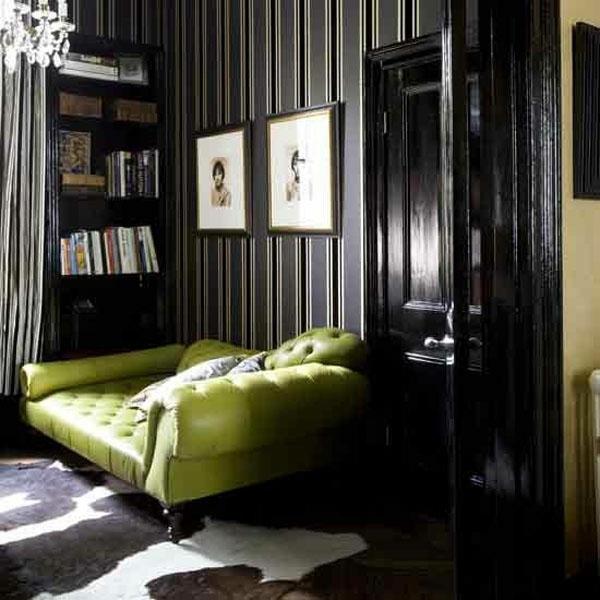 dark grey living room wallpaper