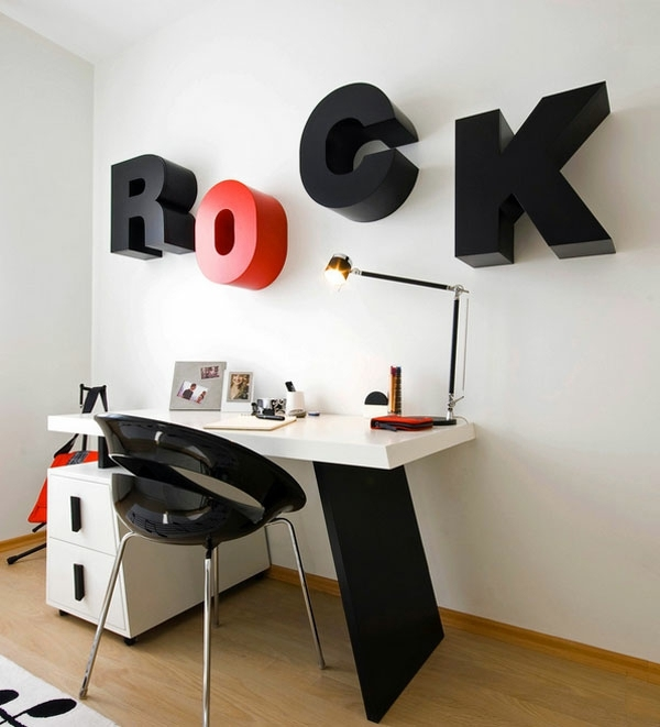 Create creative wall design with letters and writings ... on Creative Wall Design Ideas  id=52174