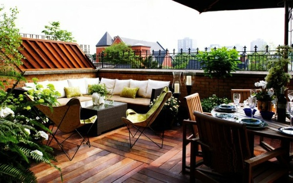 Roof terrace design ideas, examples and important aspects ... on