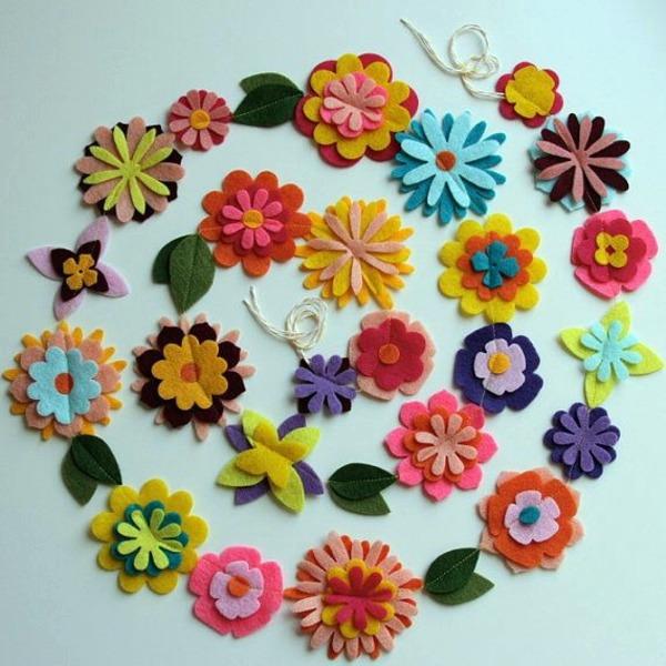 Make Itself Felt Flowers Creative Craft Ideas Felt Interior Design Ideas Avso Org