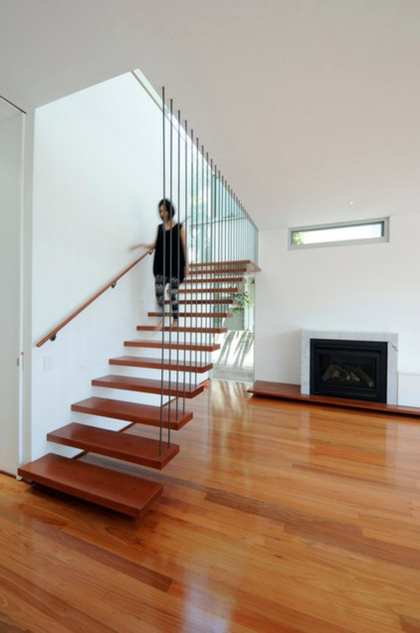 small attic space ideas - Modern wood stairs – Move & Relax