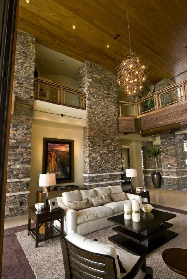 stone wall living room receive the home wall in the 13712