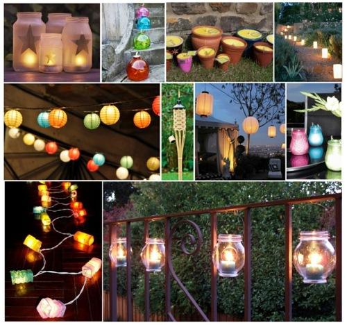 Gartengestaltung - Modern cool garden decoration ideas - the party continues after sunset