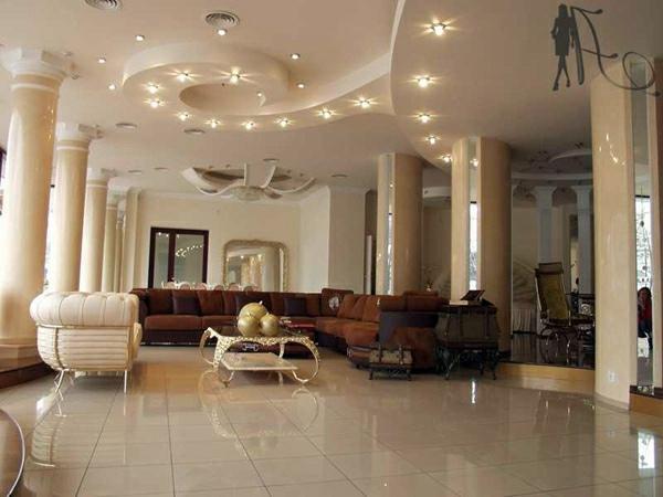 Ceiling design in living room - amazing, suspended ceilings
