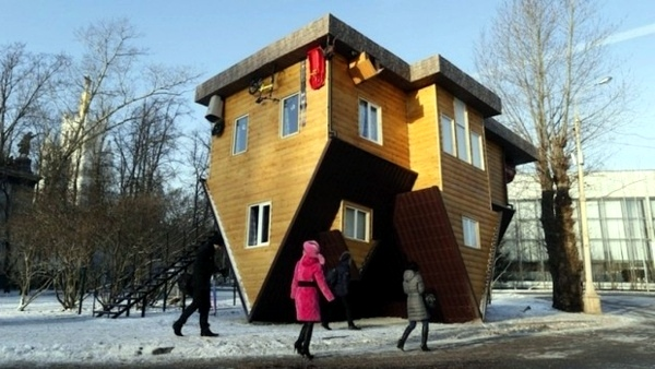 Architektur - Upside Down House in Russia - amazing sight